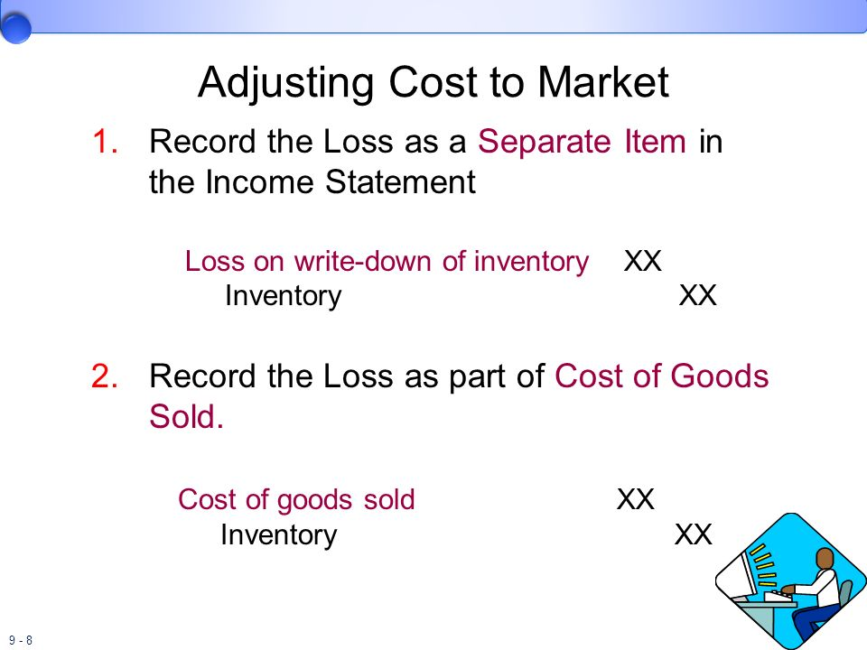 9 - 39 Inventory Errors Overstatement of ending inventory Understates cost of goods sold and Understates cost of goods sold and Overstates pretax income.