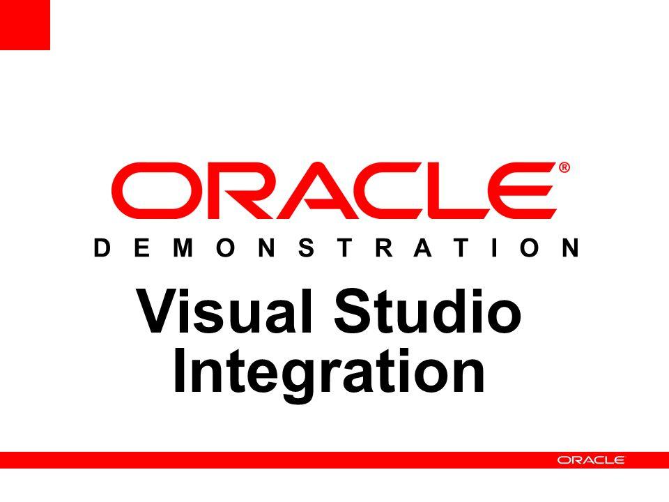D E M O N S T R A T I O N Visual Studio Integration