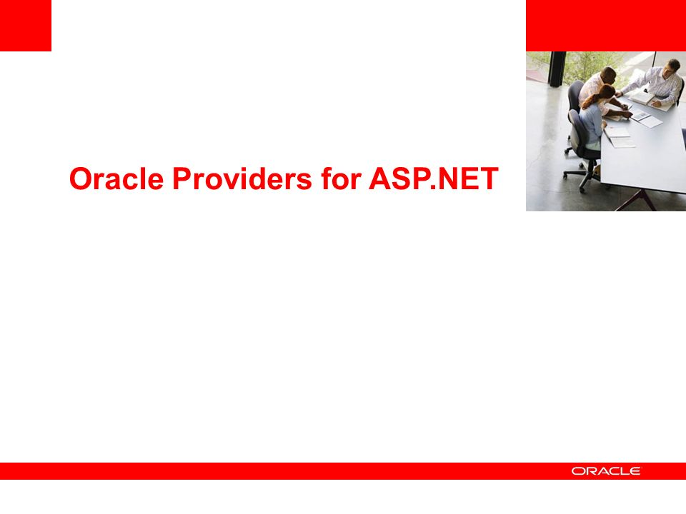 Oracle Providers for ASP.NET