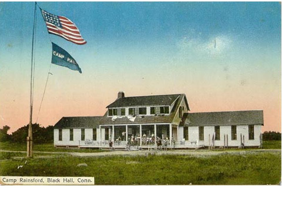 This is a 1920 postcard of the Business Section and Club House at Hawks Next Beach in Old Lyme, Connecticut.