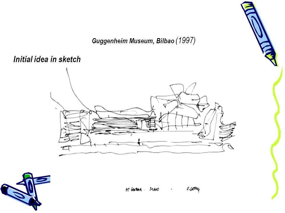 Guggenheim Museum, Bilbao (1997) Initial idea in sketch