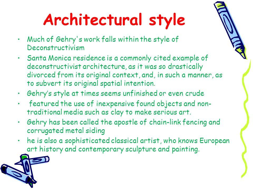 Works Include… Art Gallery of Ontario Chiat/Day Building Dancing House (Prague) Fish Dance Restaurant, Kobe Frederick R.