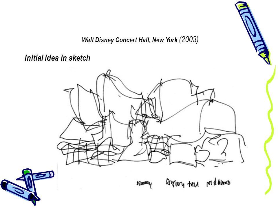 Walt Disney Concert Hall, New York (2003) Completed building
