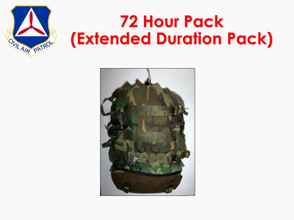 72 Hour Pack (Extended Duration Pack)