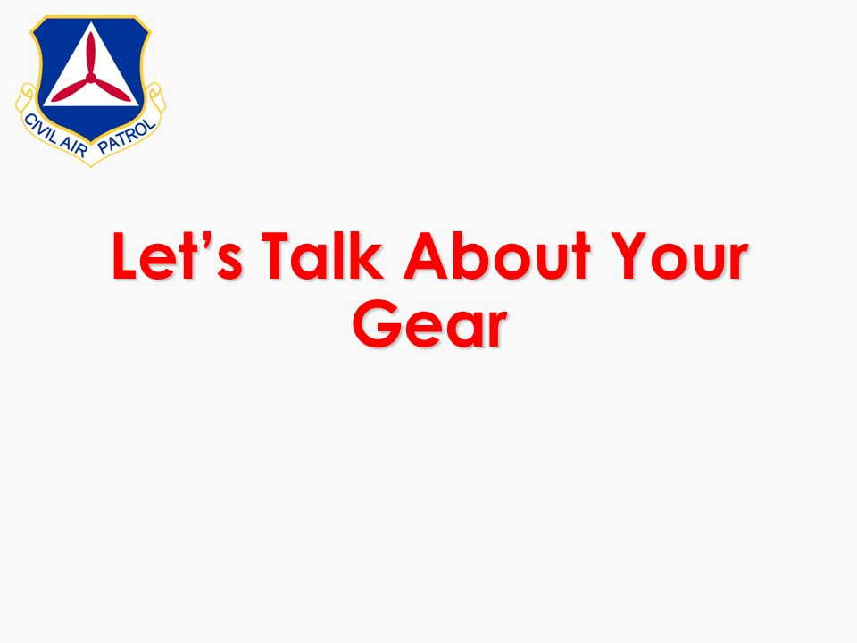 Lets Talk About Your Gear