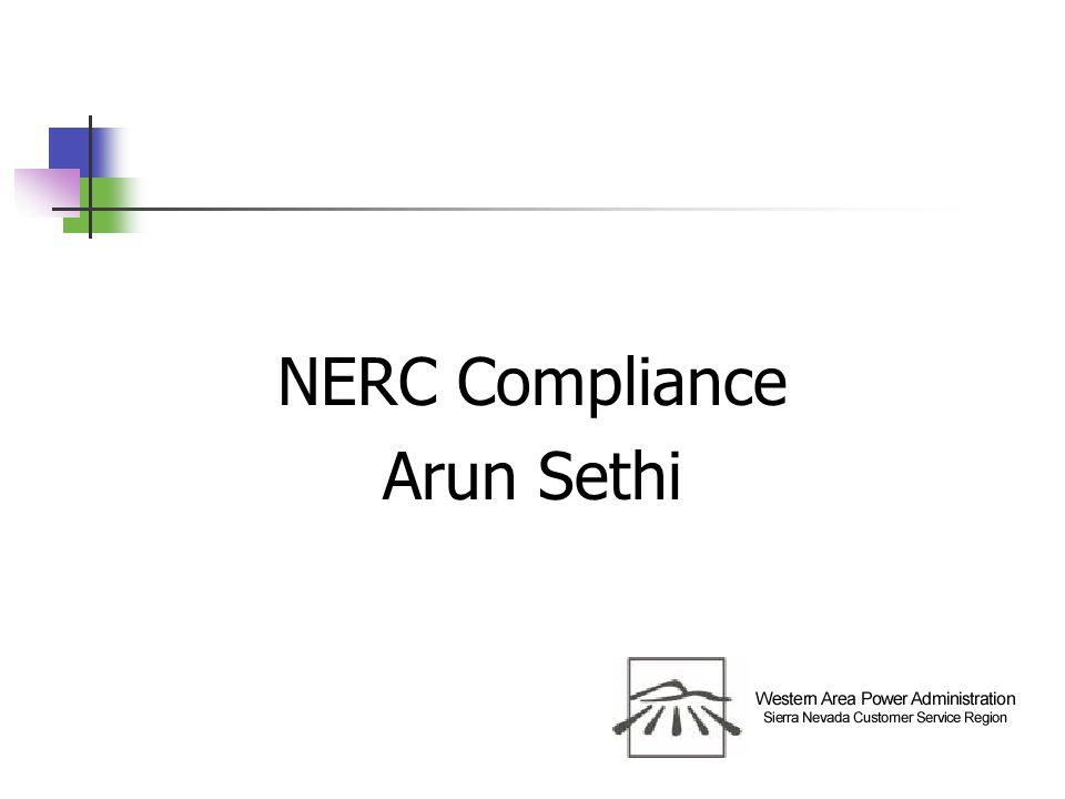 NERC Compliance Arun Sethi