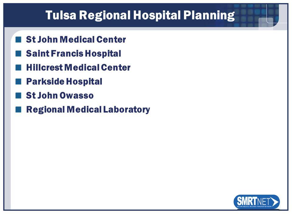 Tulsa Regional Hospital Planning St John Medical Center Saint Francis Hospital Hillcrest Medical Center Parkside Hospital St John Owasso Regional Medi