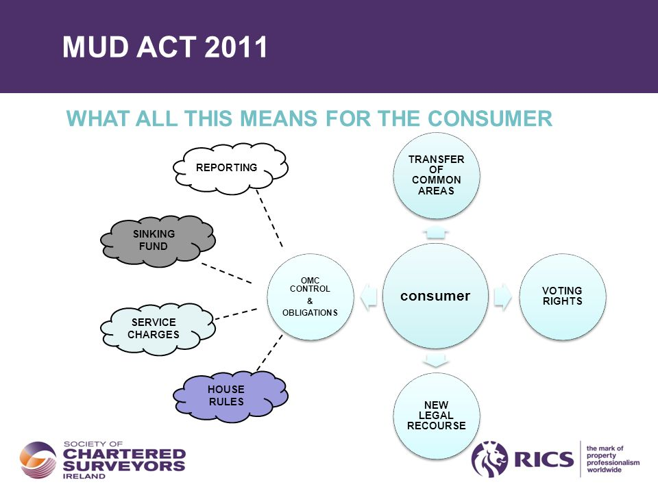 MUD ACT 2011 WHAT ALL THIS MEANS FOR THE CONSUMER consumer TRANSFER OF COMMON AREAS VOTING RIGHTS NEW LEGAL RECOURSE OMC CONTROL & OBLIGATIONS SINKING