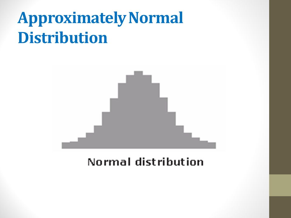 Approximately Normal Distribution