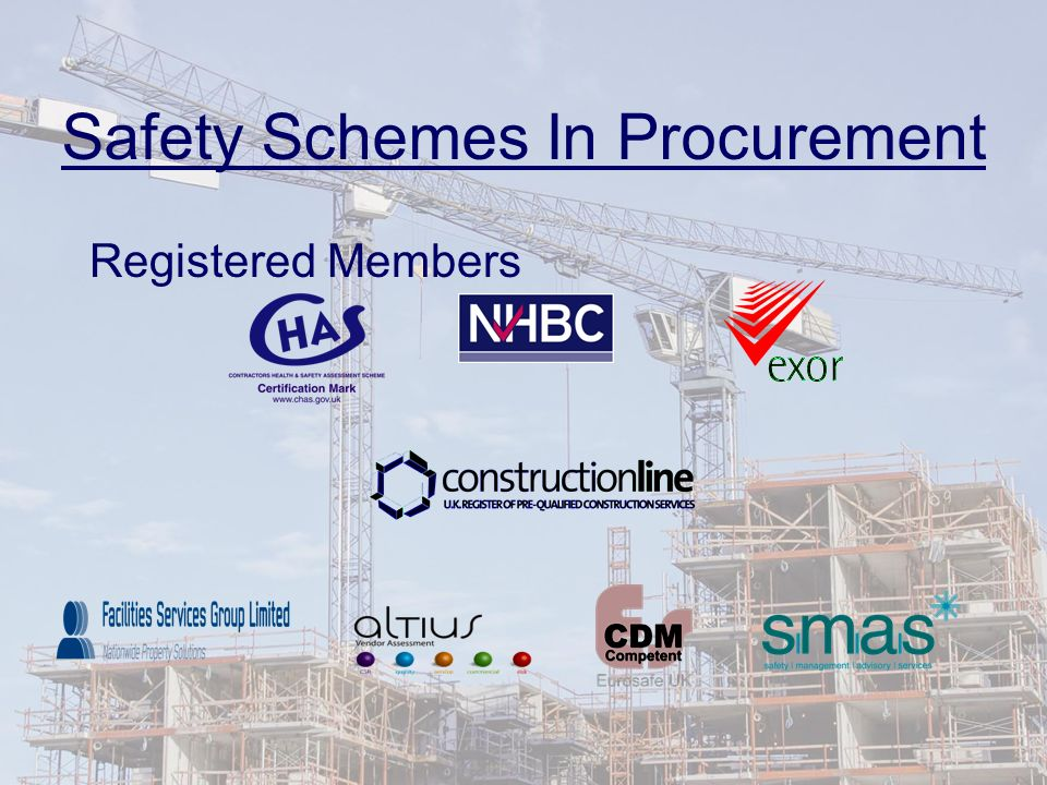 Safety Schemes In Procurement Registered Members