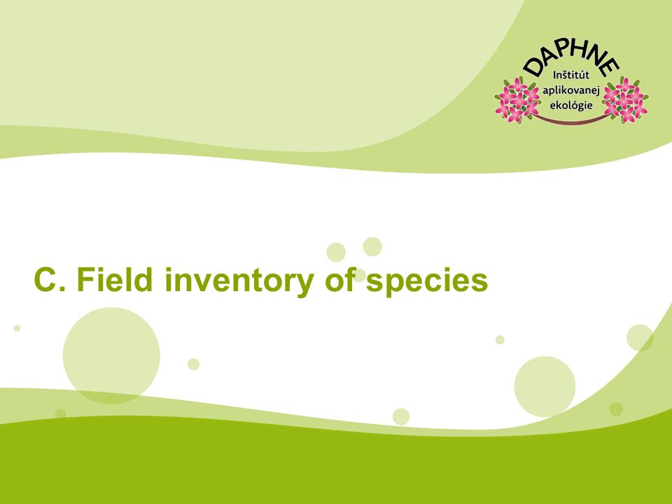 C. Field inventory of species