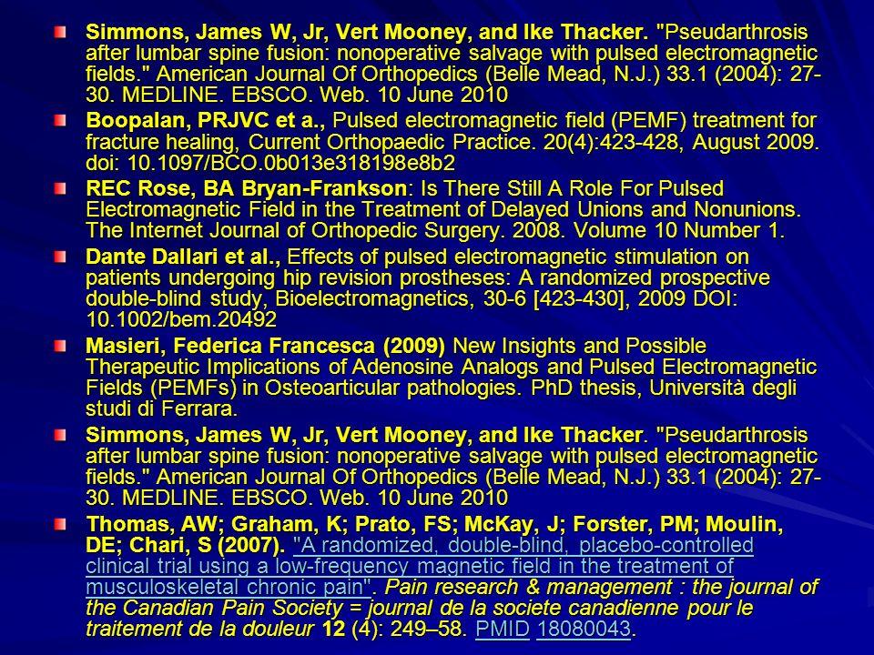 Simmons, James W, Jr, Vert Mooney, and Ike Thacker.