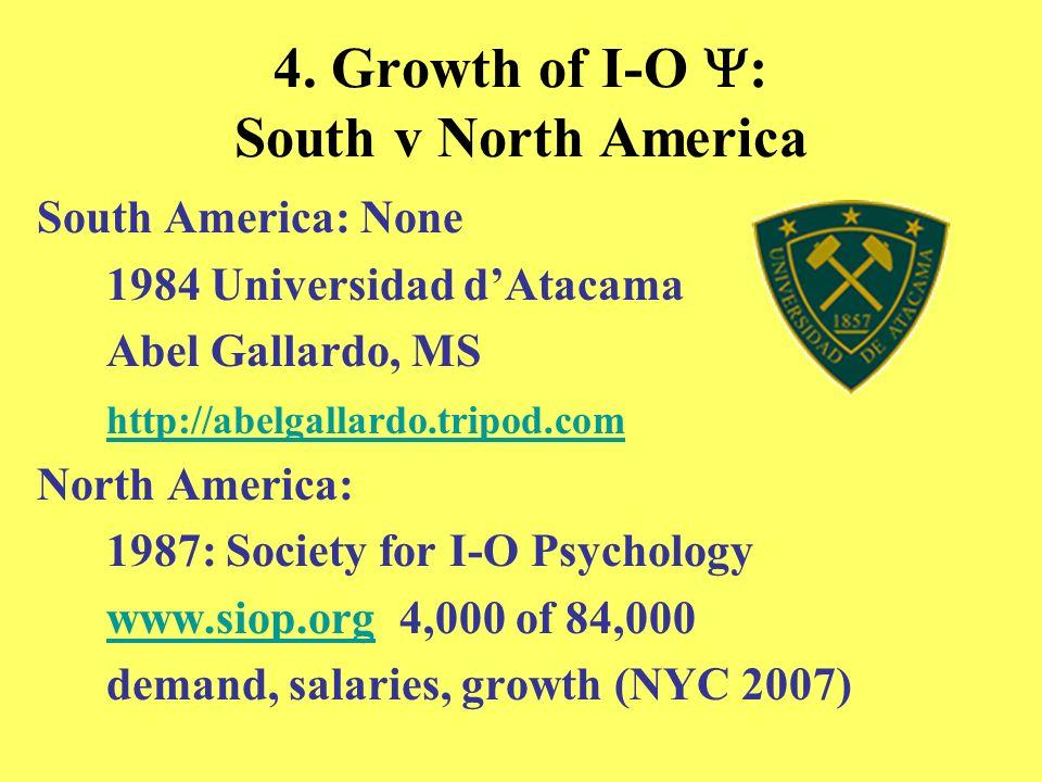 4. Growth of I-O : South v North America South America: None 1984 Universidad dAtacama Abel Gallardo, MS http://abelgallardo.tripod.com North America:
