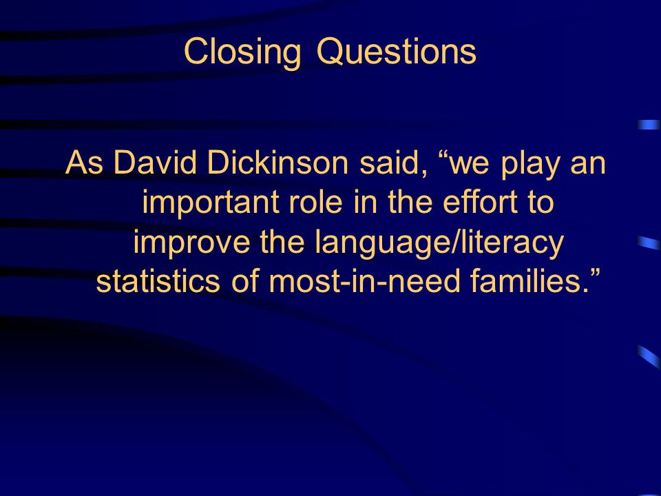 Correlations Between Kindergarten Predictors and Grade Seven Reading & Oral Vocabulary from Dickinson & Tabors, Beginning Literacy with Language, Broo