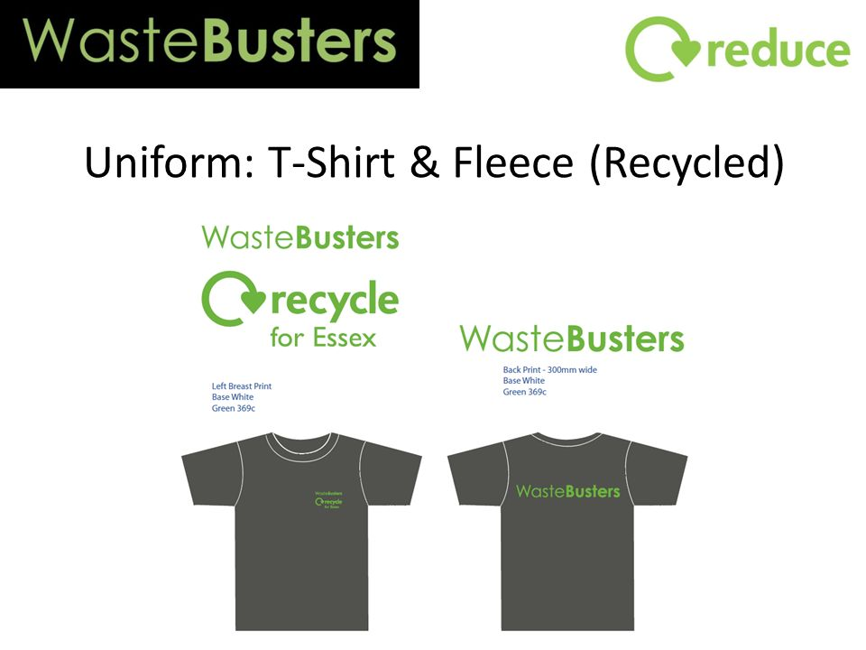 Uniform: T-Shirt & Fleece (Recycled)