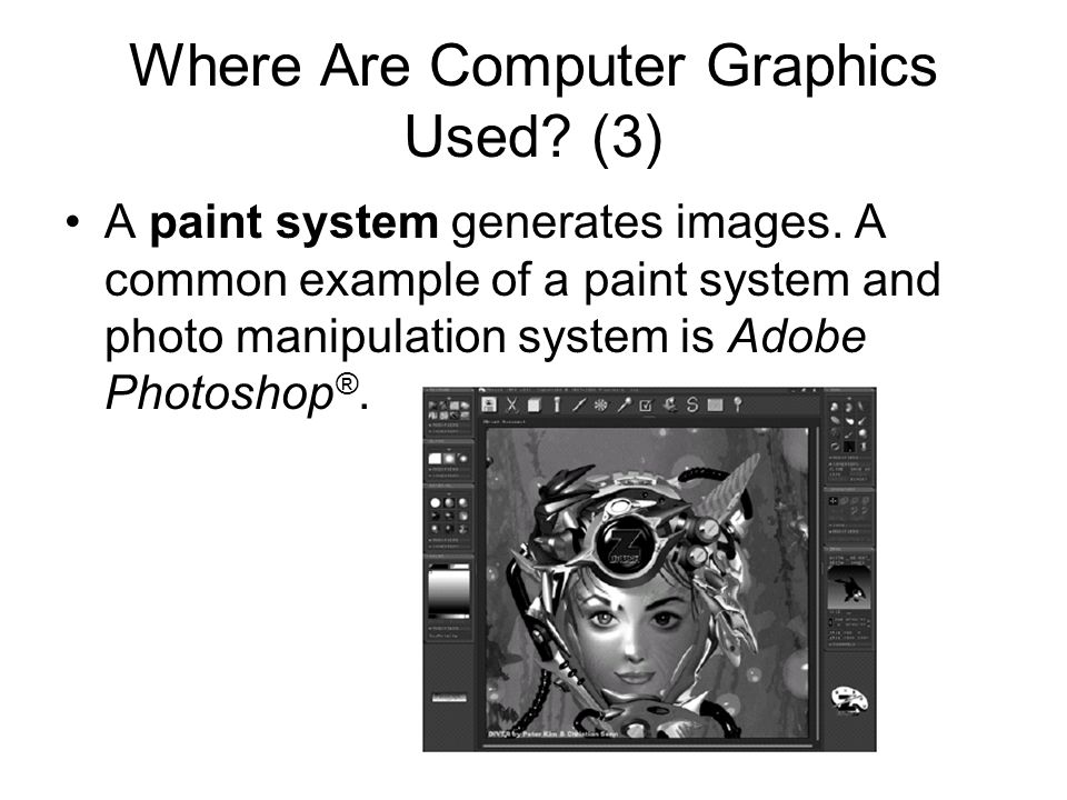 Computer Graphics and Image Processing Computer graphics create pictures and images based on some description, or model, in a computer.