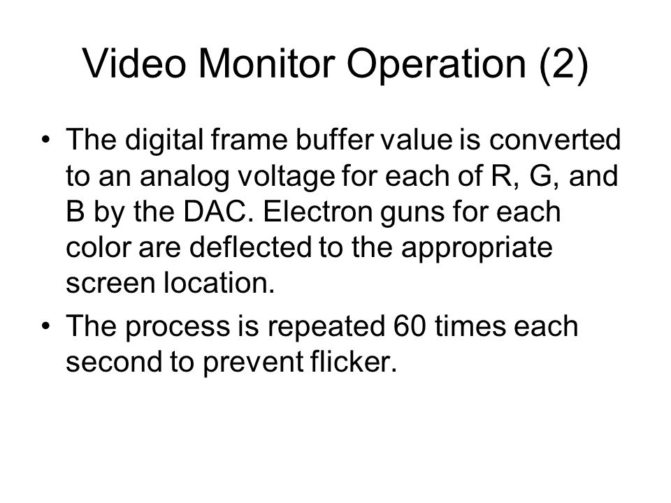 Data Transfer Accelerators Using 24- or 32-bit color requires that large amounts of data be transferred very fast between computer and display.