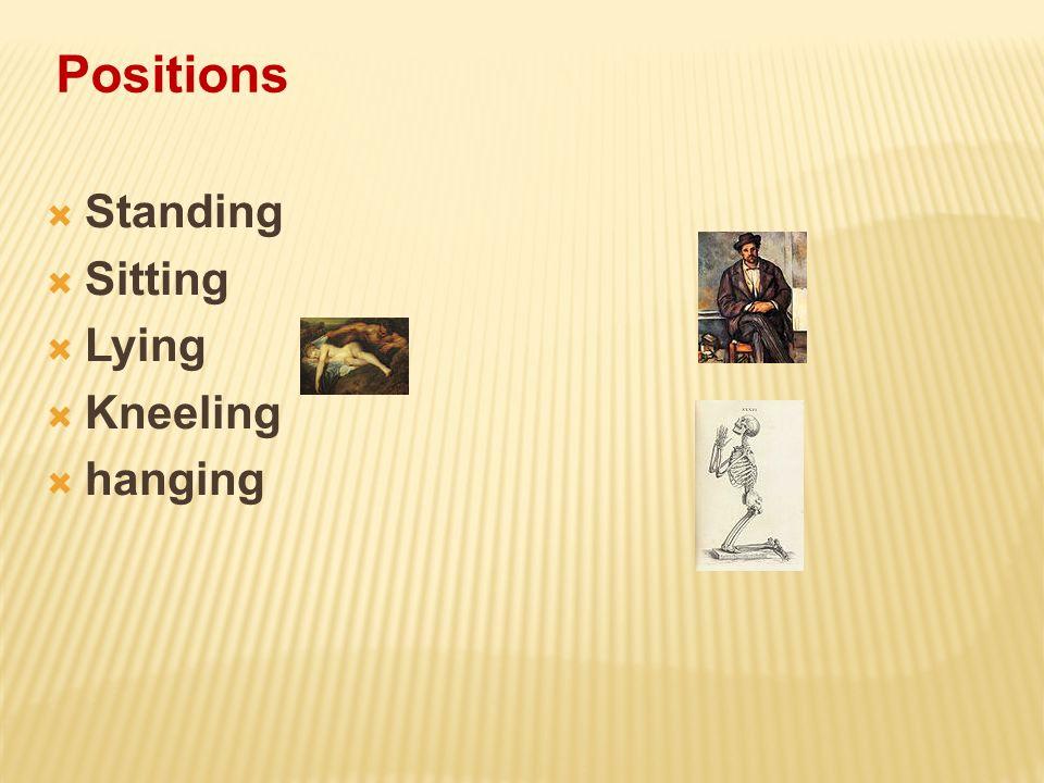 Positions Standing Sitting Lying Kneeling hanging