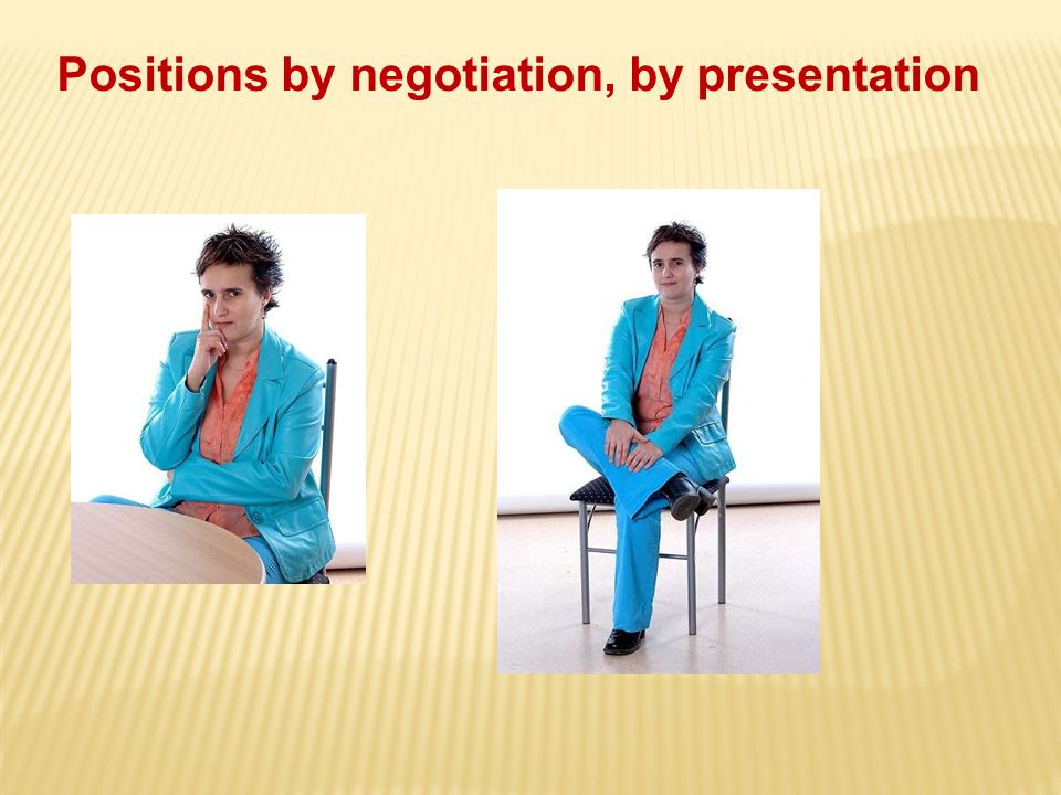 Positions by negotiation, by presentation