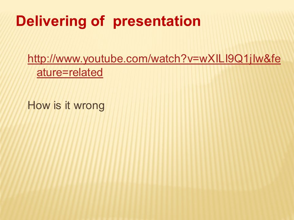 http://www.youtube.com/watch?v=wXILI9Q1jIw&fe ature=related How is it wrong