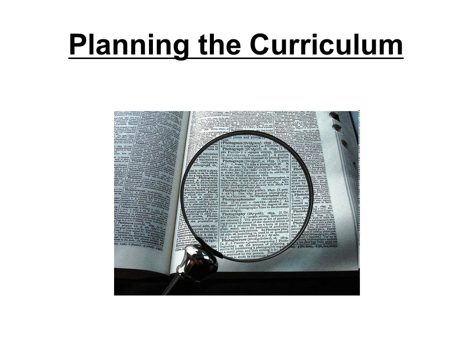 Planning the Curriculum