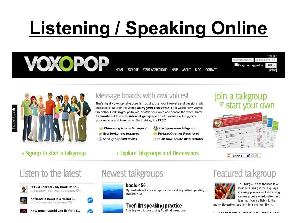 Listening / Speaking Online