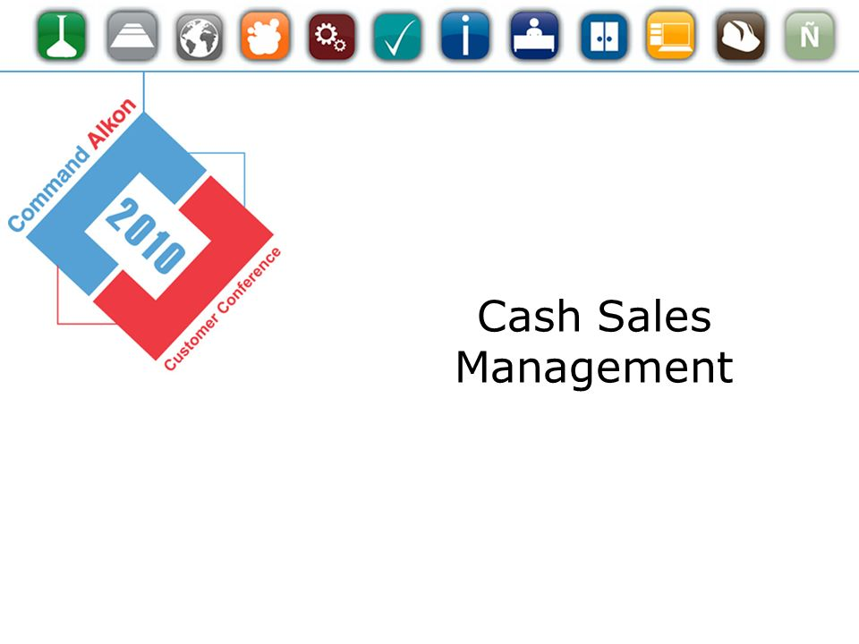 Cash Sales Management