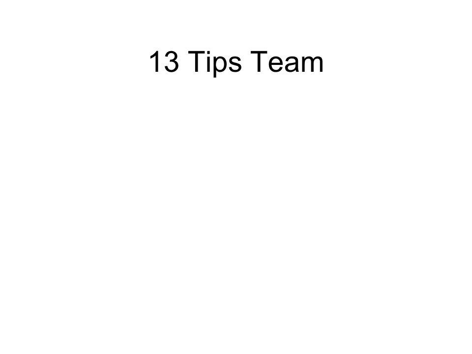 13 Tips Team