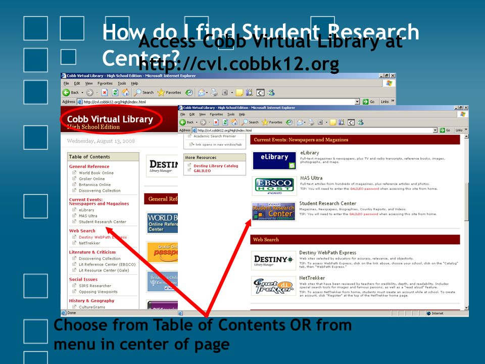 How do I find Student Research Center.