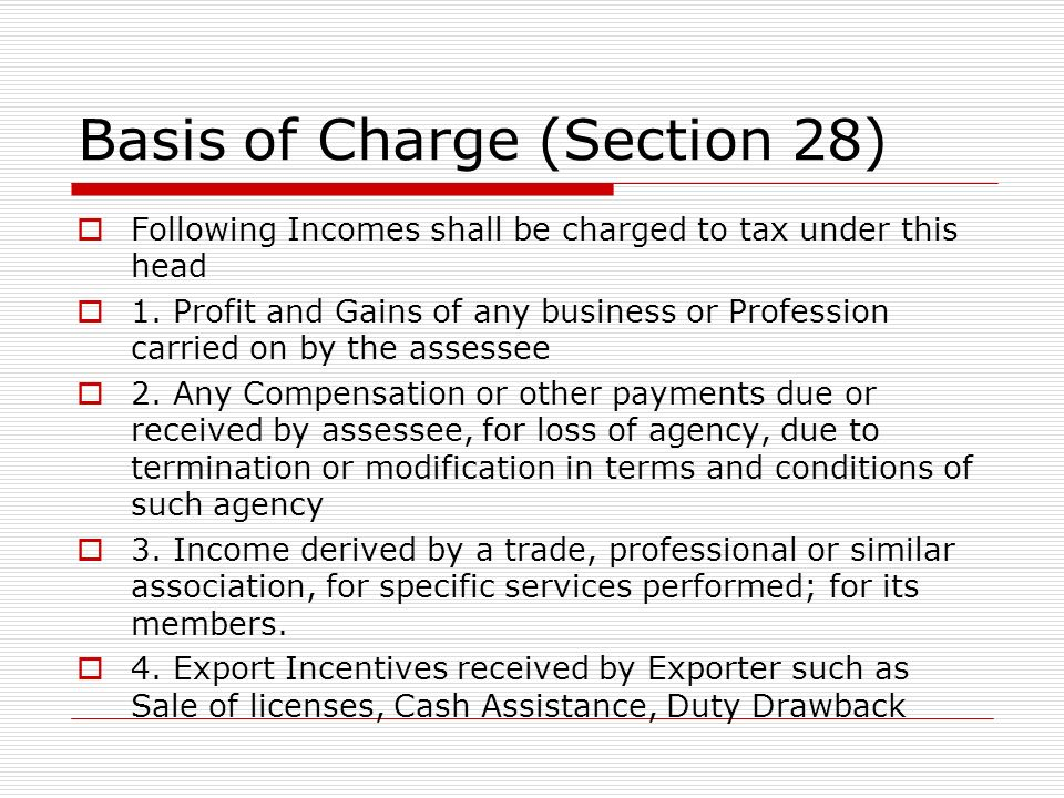 Basis of Charge (contd.) 5.