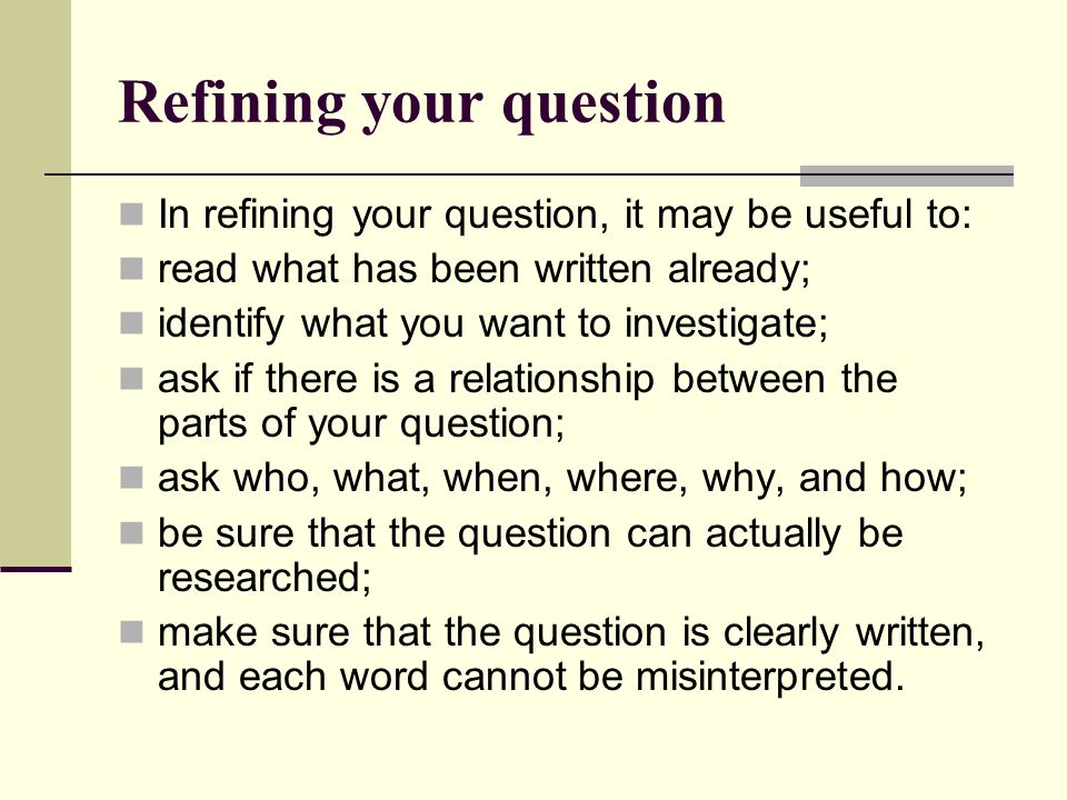 What is a guiding question.
