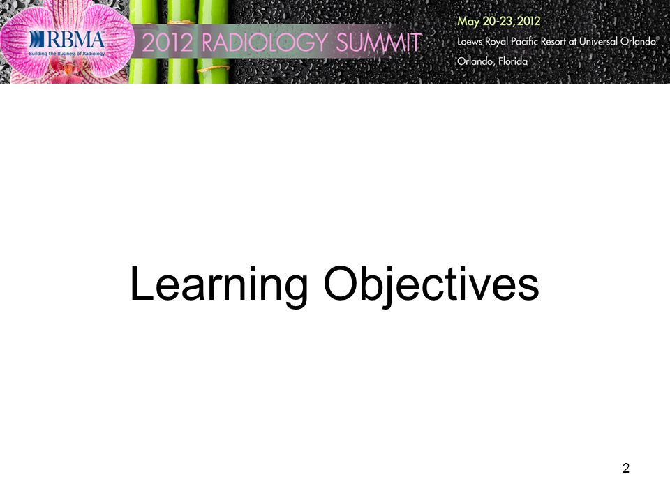 2 Learning Objectives