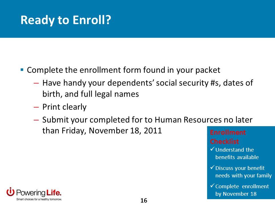 Ready to Enroll.