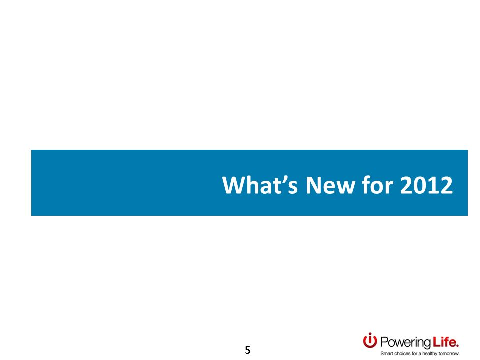 Whats New for 2012 5