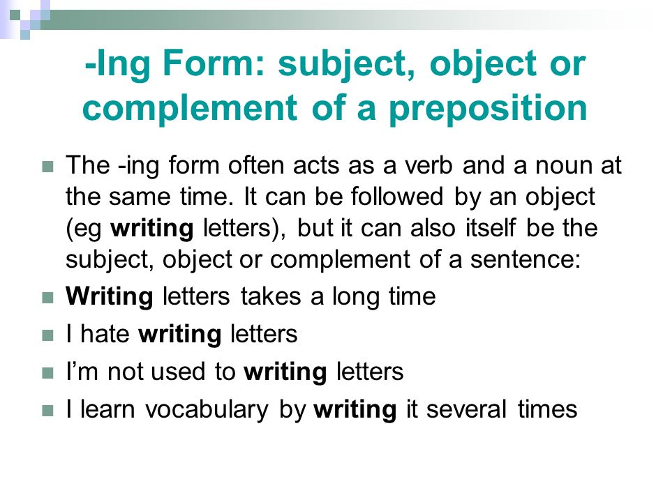 Stop and go on When they are followed by the –ing form, they refer to things that are in progress.