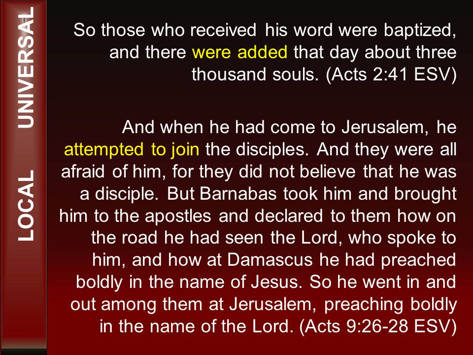 So those who received his word were baptized, and there were added that day about three thousand souls.