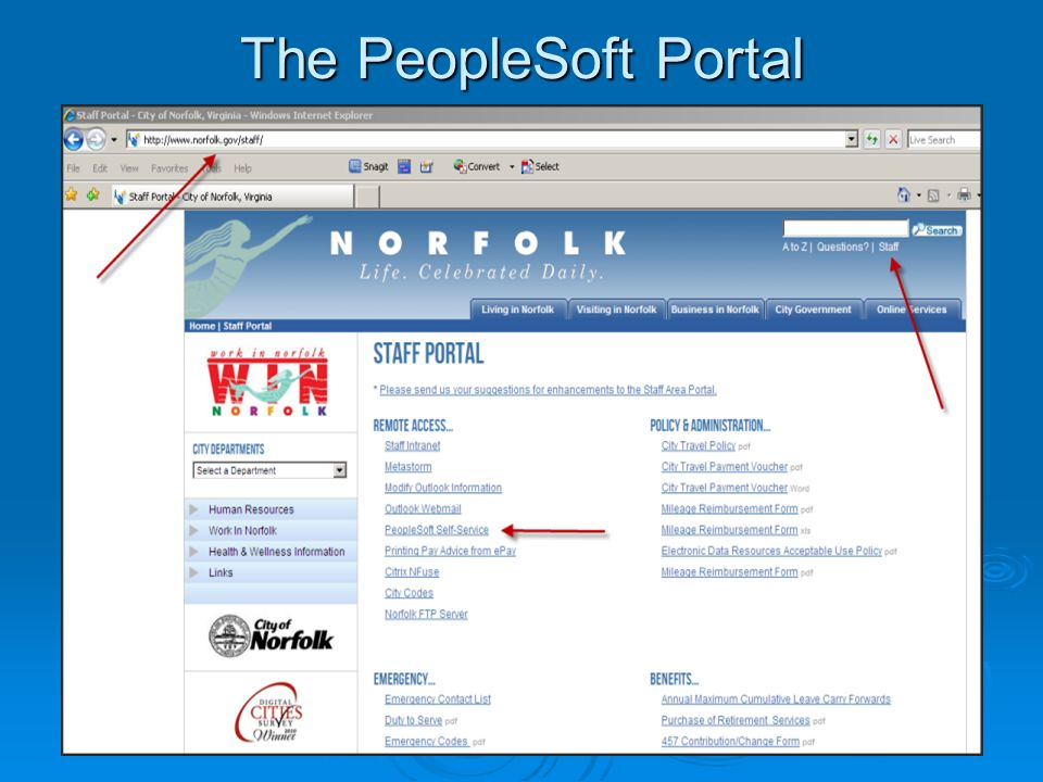 The PeopleSoft Portal