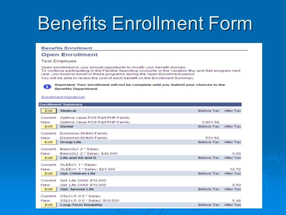 Benefits Enrollment Form