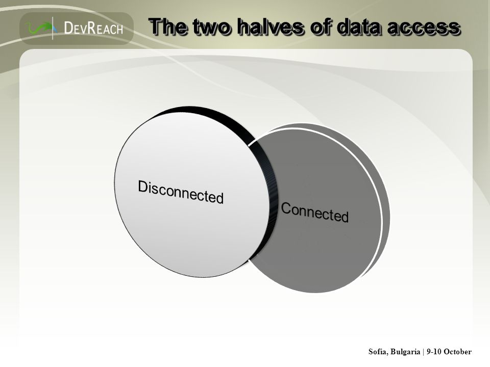 Sofia, Bulgaria | 9-10 October The two halves of data access