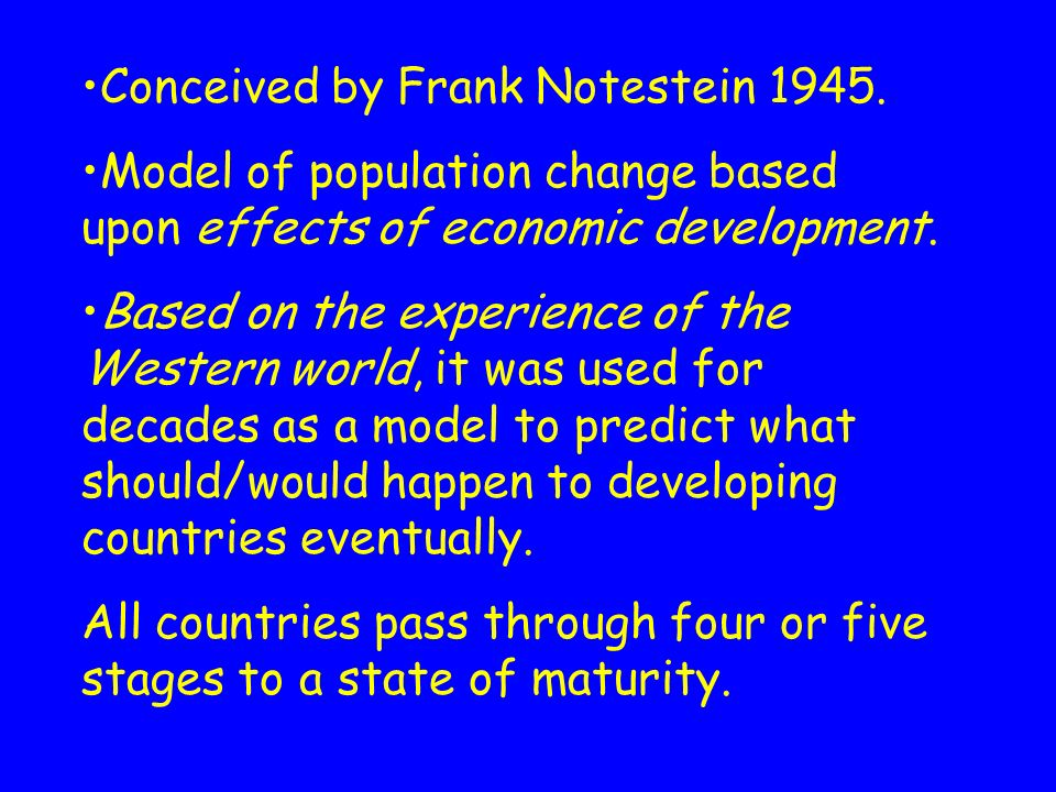 The Demographic Transition Model and the Fertility Transition Theory