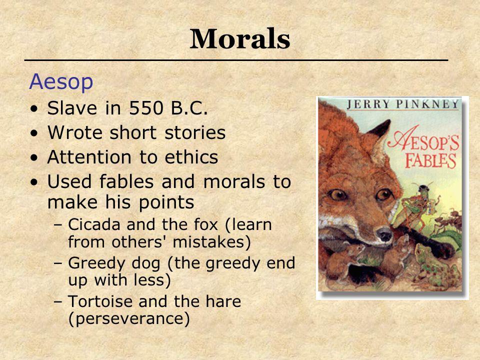 Morals Aesop Slave in 550 B.C.