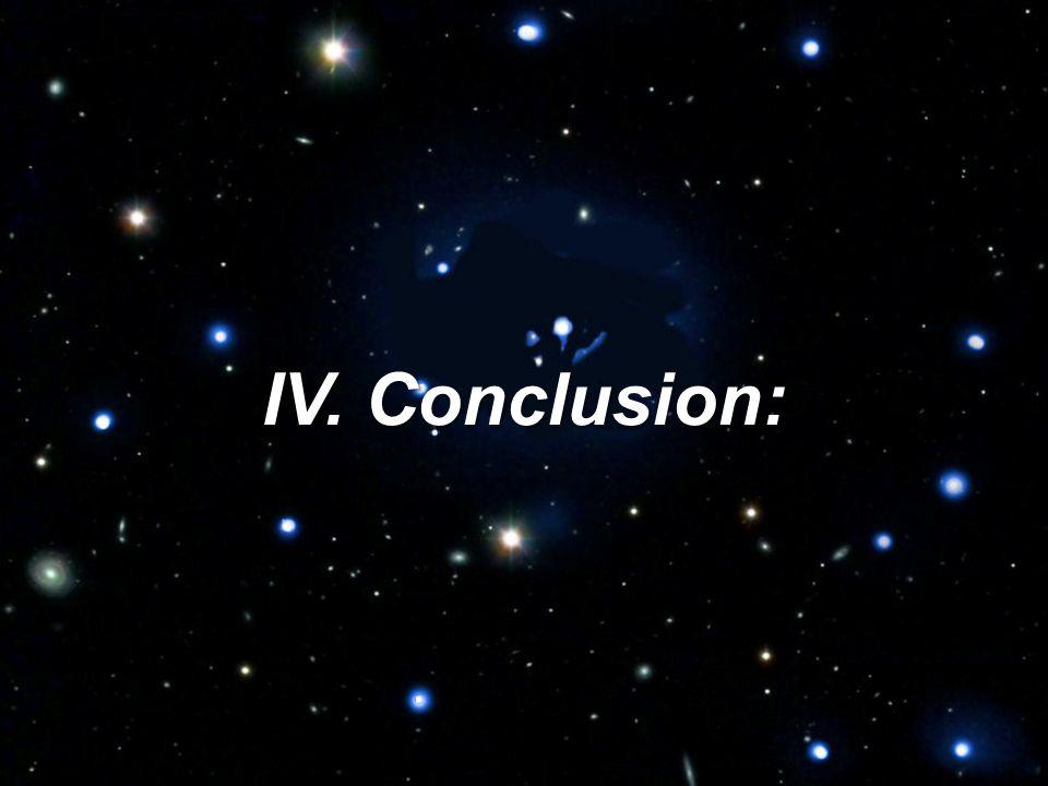 IV. Conclusion: