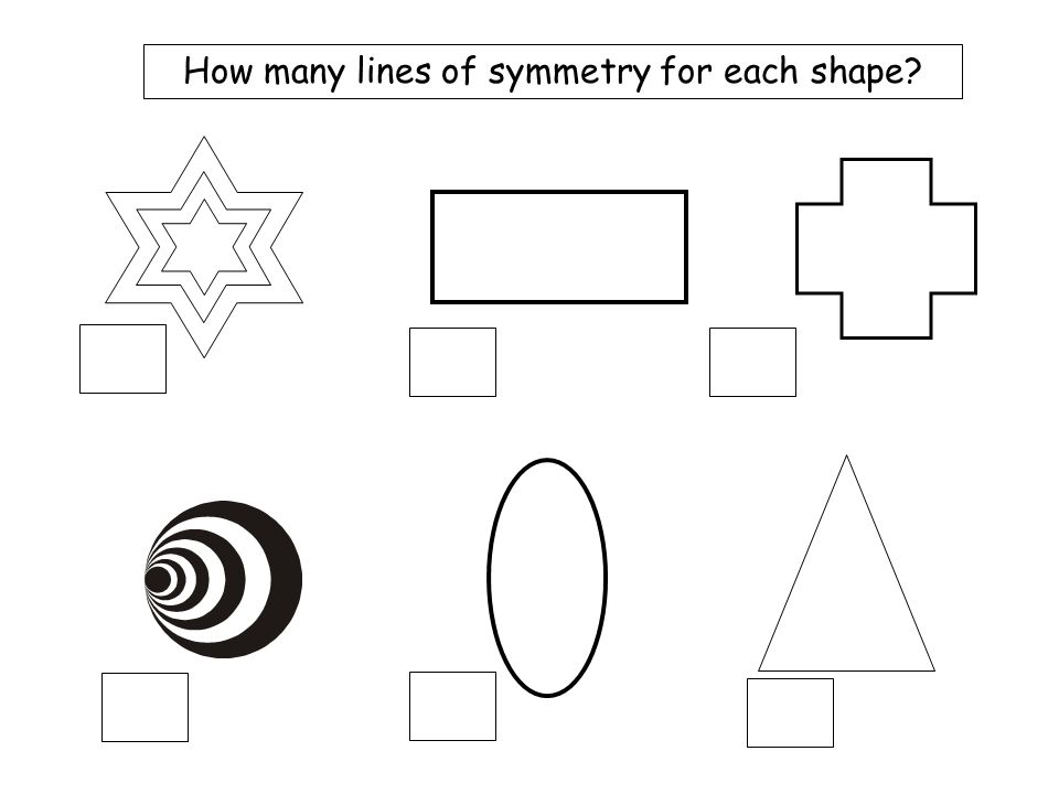 Mix 3a 2 5 3 2 4 How many lines of symmetry for each shape?