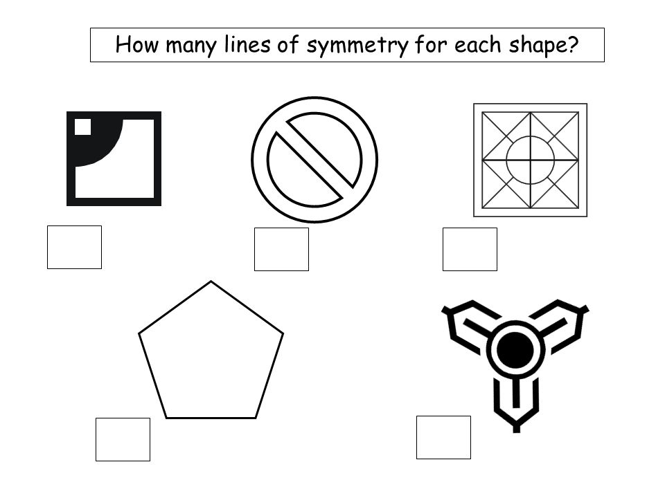 Mix 4a How many lines of symmetry for each shape? 6 2 4 1 2 1