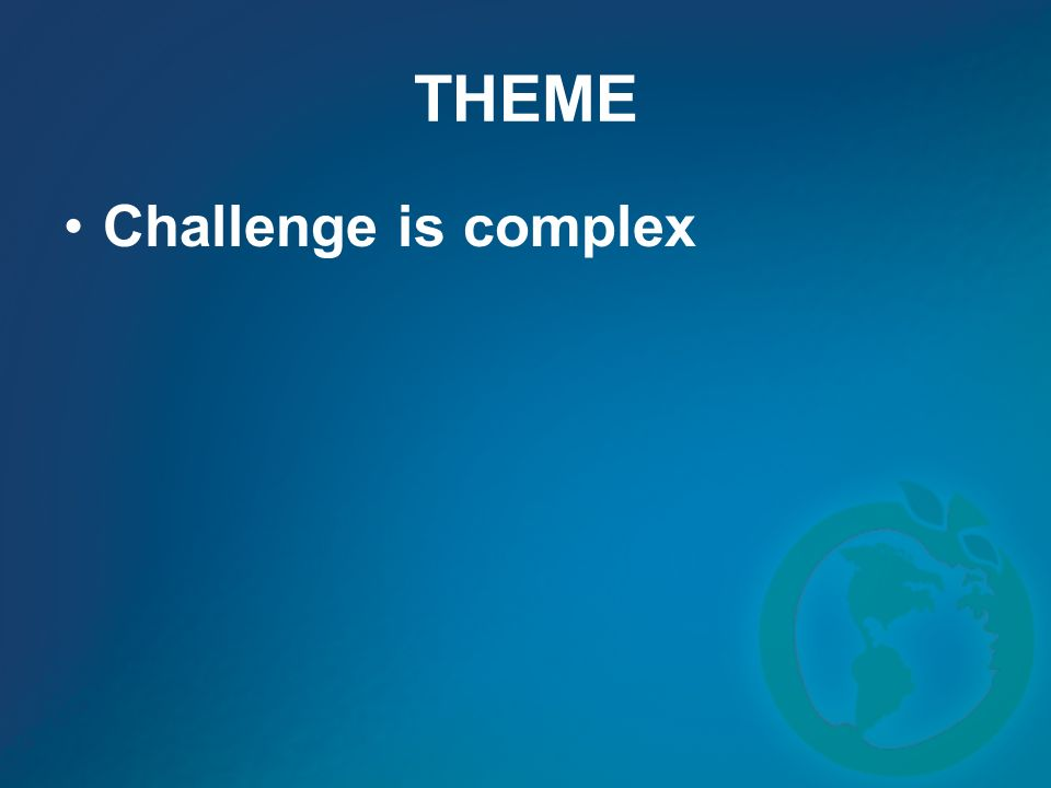 THEME Challenge is complex