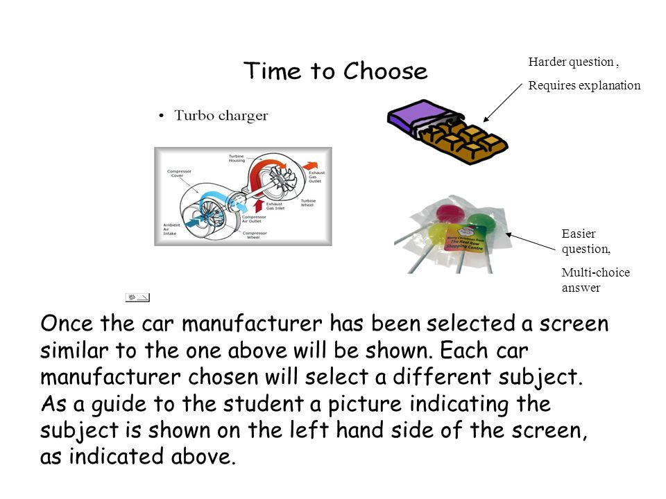 Once the car manufacturer has been selected a screen similar to the one above will be shown.