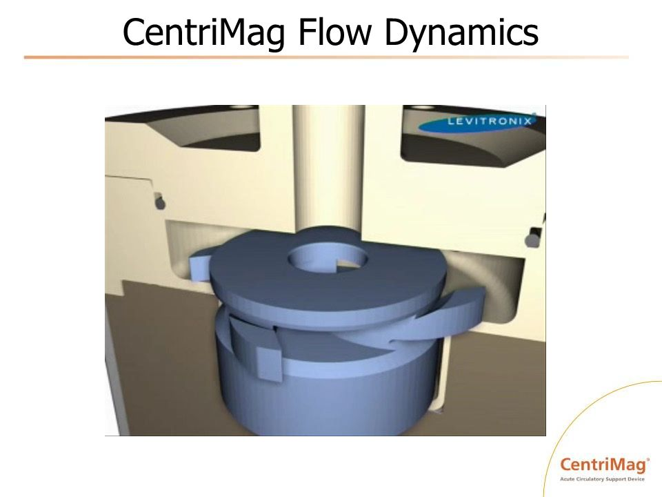 CentriMag ® Transport Capabilities Air or ground transport Left, right, or biventricular May include oxygenator Pediatric or adult capability Three hour total battery capacity with 1 Primary + 1 Back-up