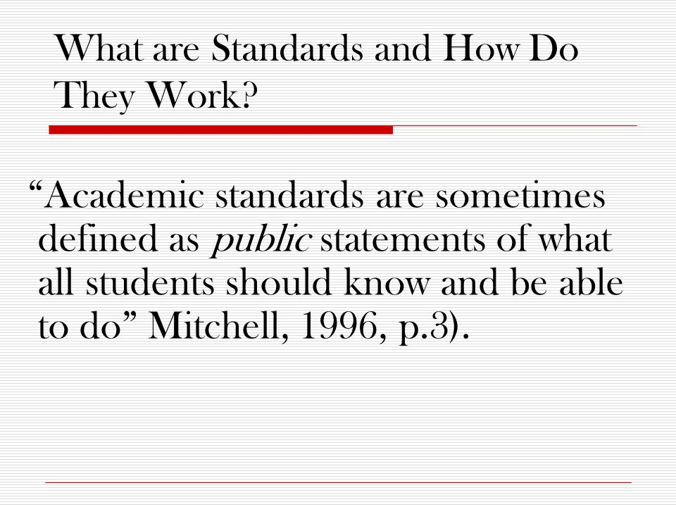 What are Standards and How Do They Work.