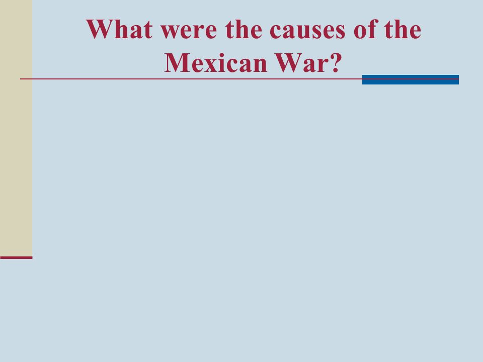 What were the causes of the Mexican War?