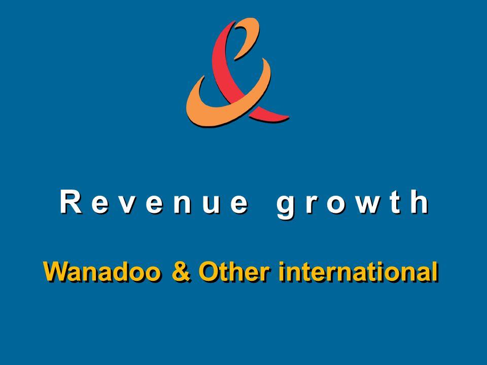 R e v e n u e g r o w t h Wanadoo & Other international